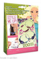 STYLE ME UP Craft Sequin Loop Earings Girls - The Bowerbirds Nest of Treasures