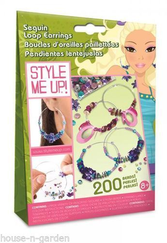 STYLE ME UP Craft Sequin Loop Earings Girls Gift Idea - the-bowerbirds-nest-of-treasures
