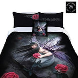 ROSE FAIRY Anne Stokes Girls Queen Bed Quilt Doona Duvet Cover - The Bowerbirds Nest of Treasures