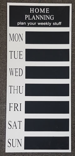 MEMO BLACKBOARD Weekly Planner Organizer Wall Hung Decor - the-bowerbirds-nest-of-treasures