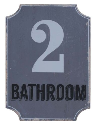 SPLOSH LOFT GREY BATHROOM PLAQUE FOR HOME OFFICE DOOR OR WALL PLAQUE SIGN DECOR - the-bowerbirds-nest-of-treasures
