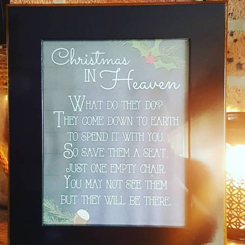 Christmas in Heaven Inspirational Frame - The Bowerbirds Nest of Treasures