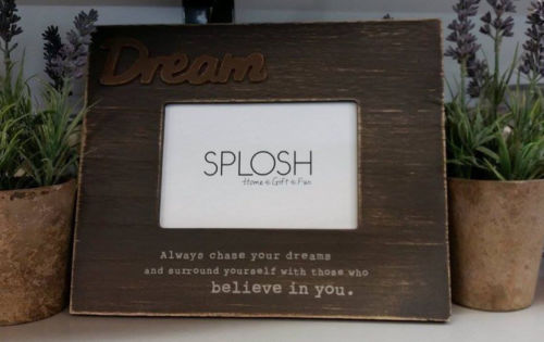 SPLOSH INSPIRATIONAL WOODEN DREAM BROWN 4 X 6 PHOTO FRAME HOME DECOR GIFT IDEA - The Bowerbirds Nest of Treasures