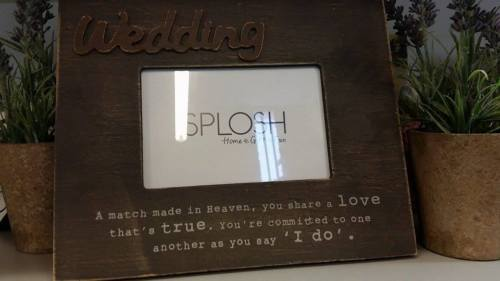 SPLOSH INSPIRATIONAL WOODEN WEDDING BROWN 4 X 6 PHOTO FRAME - The Bowerbirds Nest of Treasures