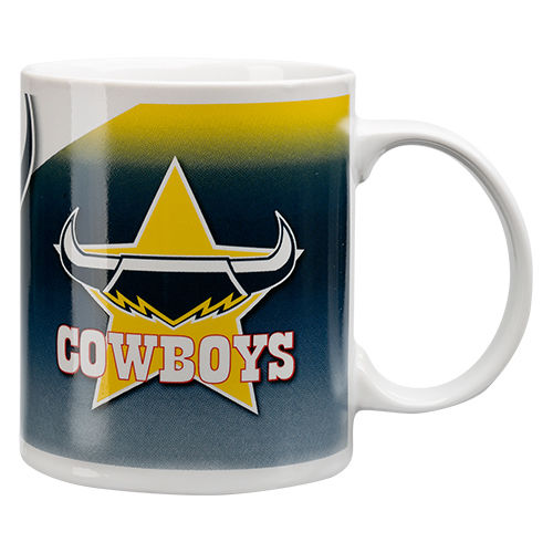 NRL North Queensland COWBOYS Ceramic Coffee Drink Coffee Cup Mug Boxed - the-bowerbirds-nest-of-treasures