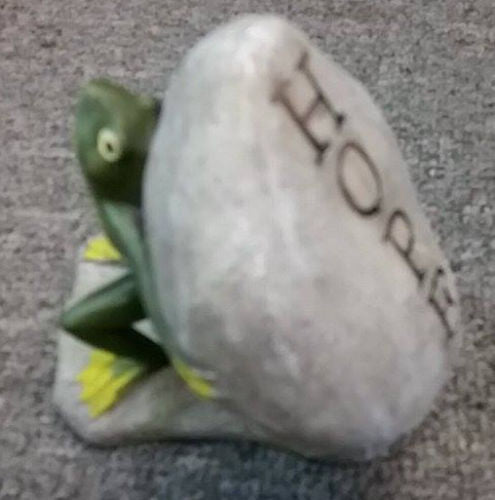 FROG with Hope Rock Home or Garden Satue Ornament Decor Gift - The Bowerbirds Nest of Treasures