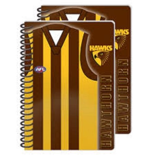 Official Licensed AFL Hawthorn HAWKS Notebooks Note Pad and Pens Gift - The Bowerbirds Nest of Treasures