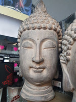 BUDDHA HEAD 40cm Home Garden Statue - The Bowerbirds Nest of Treasures