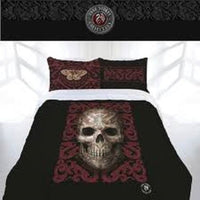 ANNE STOKES ORIENTAL SKULL SKELETON KING BED QUILT COVER SET HOME DECOR - The Bowerbirds Nest of Treasures