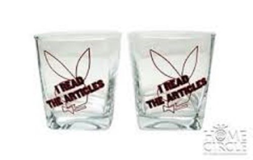 PLAYBOY ARTICLE Bunny Ladies Spirit Drink Glasses Glass Set 2 - The Bowerbirds Nest of Treasures