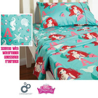 DISNEY ARIEL MERMAID GIRLS WATERMELON Queen Bed Sheet Sets - The Bowerbirds Nest of Treasures