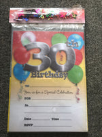 30th Birthday Invitations with Envelopes & Scatters - The Bowerbirds Nest of Treasures