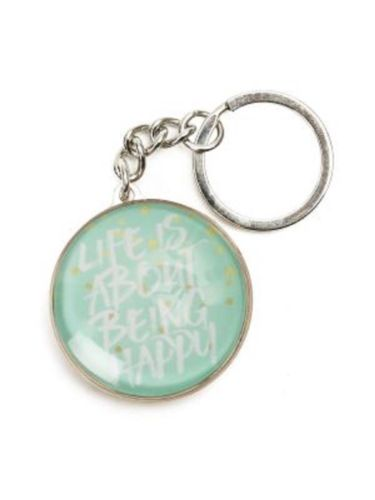 SPLOSH KEYRING Pastel Dreams Life Is About Being Happy great gift idea - The Bowerbirds Nest of Treasures