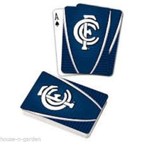 OFFICIAL LICENSED AFL CARLTON BLUES TEAM LOGO FULL DECK PLAYING CARDS - The Bowerbirds Nest of Treasures