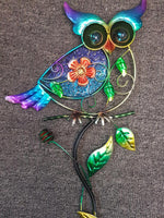 Metal Owl Garden Stakes Set 3 Garden Ornament - The Bowerbirds Nest of Treasures