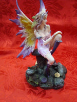 Fairy on Mushroom Home Garden Statue Ornament - The Bowerbirds Nest of Treasures