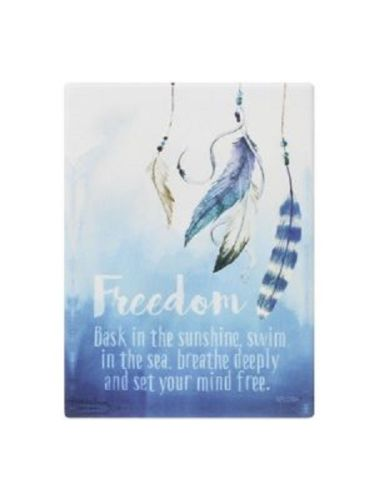 Splosh Freedom Verse FREEDOM Inspirational Plaque Home Wall Decor - The Bowerbirds Nest of Treasures
