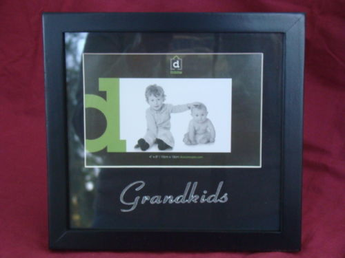 GRANDKIDS Black Wooden 4 x 6 Photo Frame - the-bowerbirds-nest-of-treasures