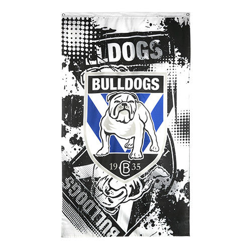 OFFICIAL LICENCED NRL CANTERBURY BULLDOGS FOOTY WALL CAPE FLAG 150 X 90CM - The Bowerbirds Nest of Treasures