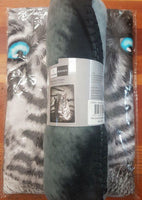 TIGER BLUE EYES STRIPES Polar Fleece Throw Rug Blanket - The Bowerbirds Nest of Treasures