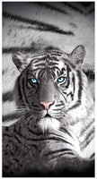 TIGER BLUE EYES BATH BEACH POOL TOWEL 100% COTTON - The Bowerbirds Nest of Treasures