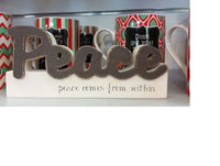 Splosh Vintage Wooden PEACE Block Word Home Decor - the-bowerbirds-nest-of-treasures