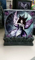 ANNE STOKES SILK LURE Gothic Queen Fairy Spiderweb Candle Holders Set 2 - The Bowerbirds Nest of Treasures