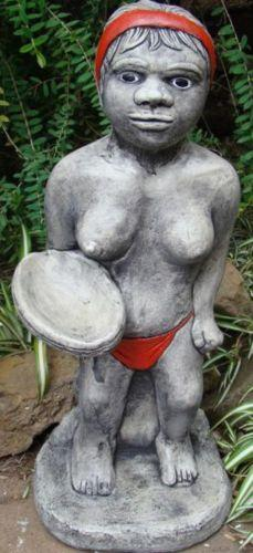 Indiginous Native Lady Concrete Garden Statue - Pickup Only - The Bowerbirds Nest of Treasures