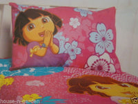 DORA THE EXPLORER SINGLE BED QUILT COVER SET GIRLS BEDROOM HOME DECOR 1/2 PRICE - the-bowerbirds-nest-of-treasures