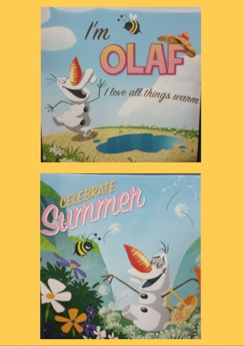 DISNEY FROZEN OLAF Wall Canvas - the-bowerbirds-nest-of-treasures