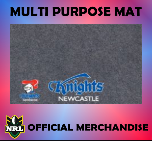 NRL RUGBY LEAGUE NEWCASTLE KNIGHTS MULTIPURPOSE BBQ MAT X 12 WHOLESALE BULK LOT - the-bowerbirds-nest-of-treasures