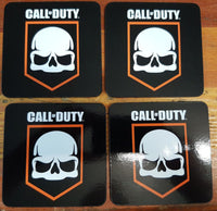 OFFICIAL LICENSED CALL OF DUTY LOGO SET 4 CORK DRINK BEER COFFEE COASTERS - The Bowerbirds Nest of Treasures