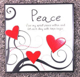 SPLOSH HEARTFELTS MOMENTS Stand Alone Inspirational Peace Plaque Home Decor Gift - The Bowerbirds Nest of Treasures