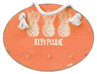 SPLOSH FIESTA PINEAPPLE ORANGE KEY HANGER HOOKS HOME OFFICE WALL PLAQUE DECOR - The Bowerbirds Nest of Treasures