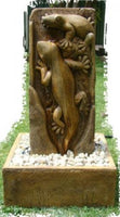 LIZARD FOUNTAIN WATER FEATURE CONCRETE GARDEN STATUE ORNAMENT BY ORDER ONLY - The Bowerbirds Nest of Treasures