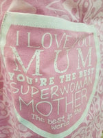 MUM LOVE YOU THE BEST SUPER WOMAN COOKING APRON - The Bowerbirds Nest of Treasures