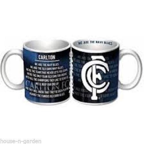 AFL Carlton Blues Official Licensed Ceramic Boxed Coffee Drink Cup Mug - the-bowerbirds-nest-of-treasures