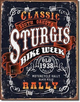 Classic Sturgis Bike Week Metal Tin Sign Barware Mancave Garage Fathers Day Gift - The Bowerbirds Nest of Treasures