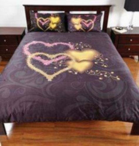 BLACK HEARTS SINGLE BED Quilt Cover Set - The Bowerbirds Nest of Treasures