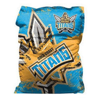 NRL Gold Coast TITANS GIANT BEAN BAG Cover Loung Mancave Bar Bedroom Home Decor - The Bowerbirds Nest of Treasures
