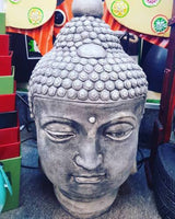 BUDDHA HEAD Concrete Garden Statue Ornament ~ PICKUP ONLY - the-bowerbirds-nest-of-treasures