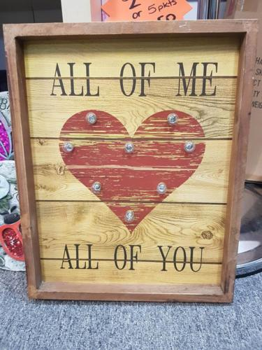 LED LIGHT SIGN ALL OF ME ALL OF YOU LOVE HEART TIMBER WALL ART HOME DECOR GIFT - The Bowerbirds Nest of Treasures
