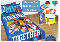 PAW PATROL PUPTACULAR SINGLE BED SIZE QUILT DUVET COVER AND CUSHION SET BEDROOM - The Bowerbirds Nest of Treasures