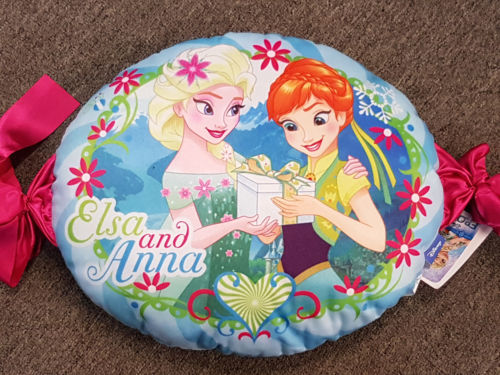 Disney FROZEN PEPPERMINT ELSA & ANNA GIRLS FILLED CUSHION PILLOW HOME BEDROOM DECOR - the-bowerbirds-nest-of-treasures