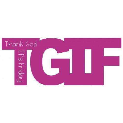 SPLOSH TEXT SPEAK TGIF THANK GOD ITS FRIDAY PINK WALL ART SHELF SITTER - The Bowerbirds Nest of Treasures
