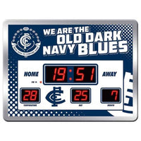 AFL Glass LED Digital Scoreboard Clock - The Bowerbirds Nest of Treasures