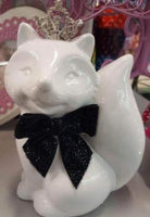 White PRINCESS FOX With Tiara Change Money Box - The Bowerbirds Nest of Treasures