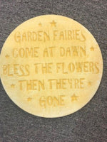 GARDEN FAIRIES STEPPING STONE PLAQUE Concrete Garden Statue Ornament - The Bowerbirds Nest of Treasures