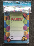 Girls Party Invitations with Envelopes & Scatters - The Bowerbirds Nest of Treasures