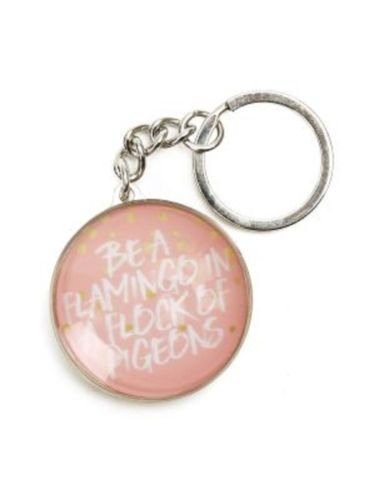 SPLOSH KEYRING Pastel Dreams Be a Flamingo In a Flock of Pigeons great gift idea - The Bowerbirds Nest of Treasures